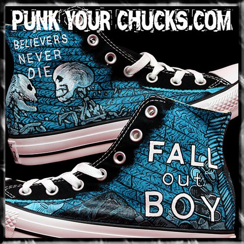 9481060ec0f3 Fall Out Boy Custom Converse Sneakers