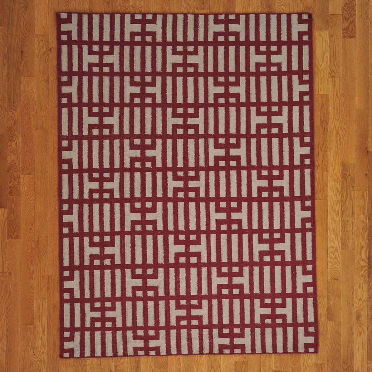 Reversible Durie Kilim Hand-woven Oriental Rug