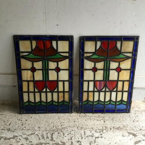 アンティーク ステンドグラス 窓 ドア イギリス D1 ステンドグラス