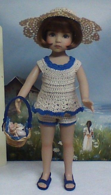 """Play Outfit for Dianna Effner's 13"""" Little Darling """"Seashells by the Sea Shore"""" #LindaLeeDolls"""