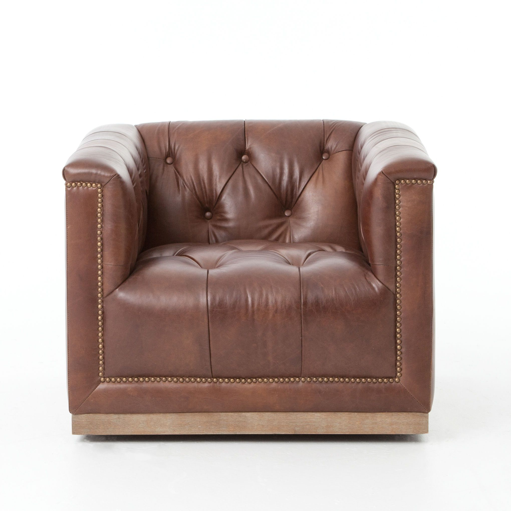 Leather Swivel Chairs For Living Room Living Room Maxx Swivel Chair Antique Whisky Leather Boylston
