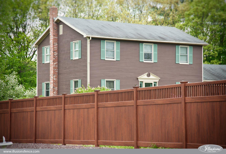 Fence - illusions wood grain vinyl pvc privacy fence ...