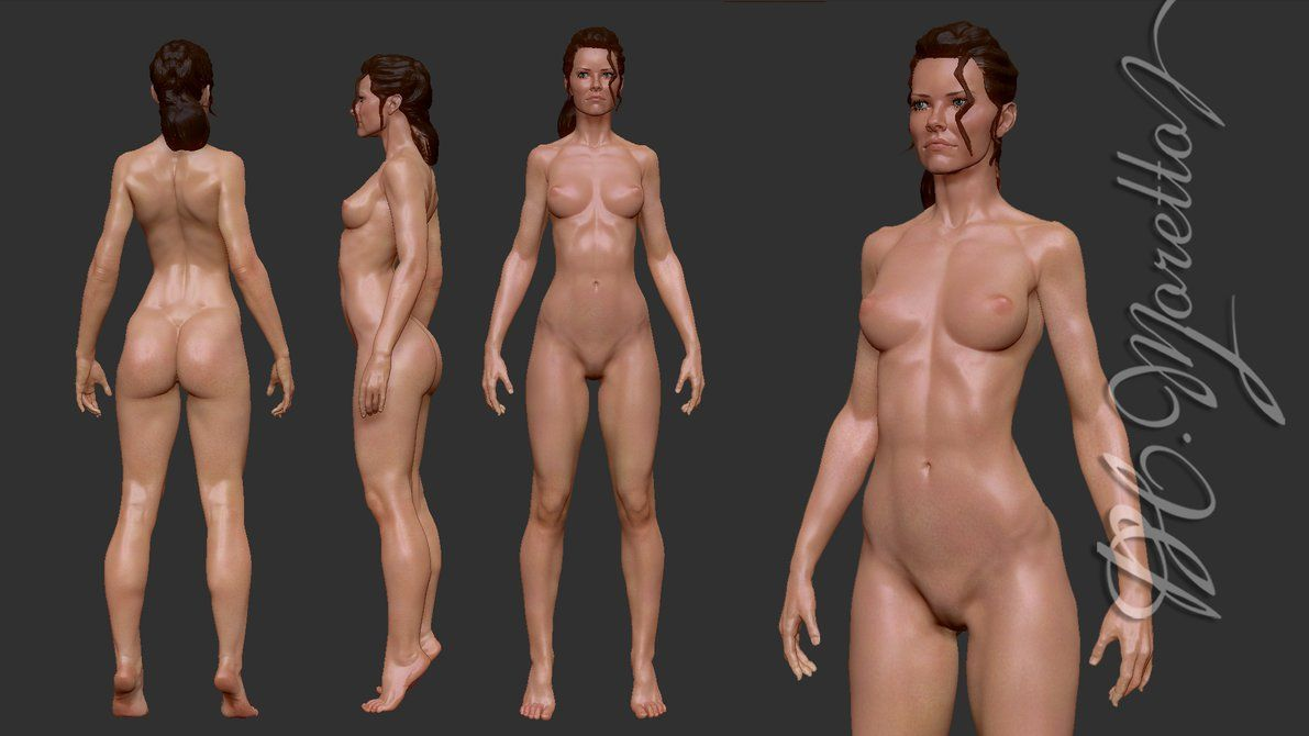 Animated nude female body #2