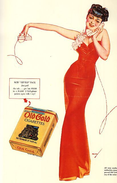 Old Gold Cigarettes by George Petty