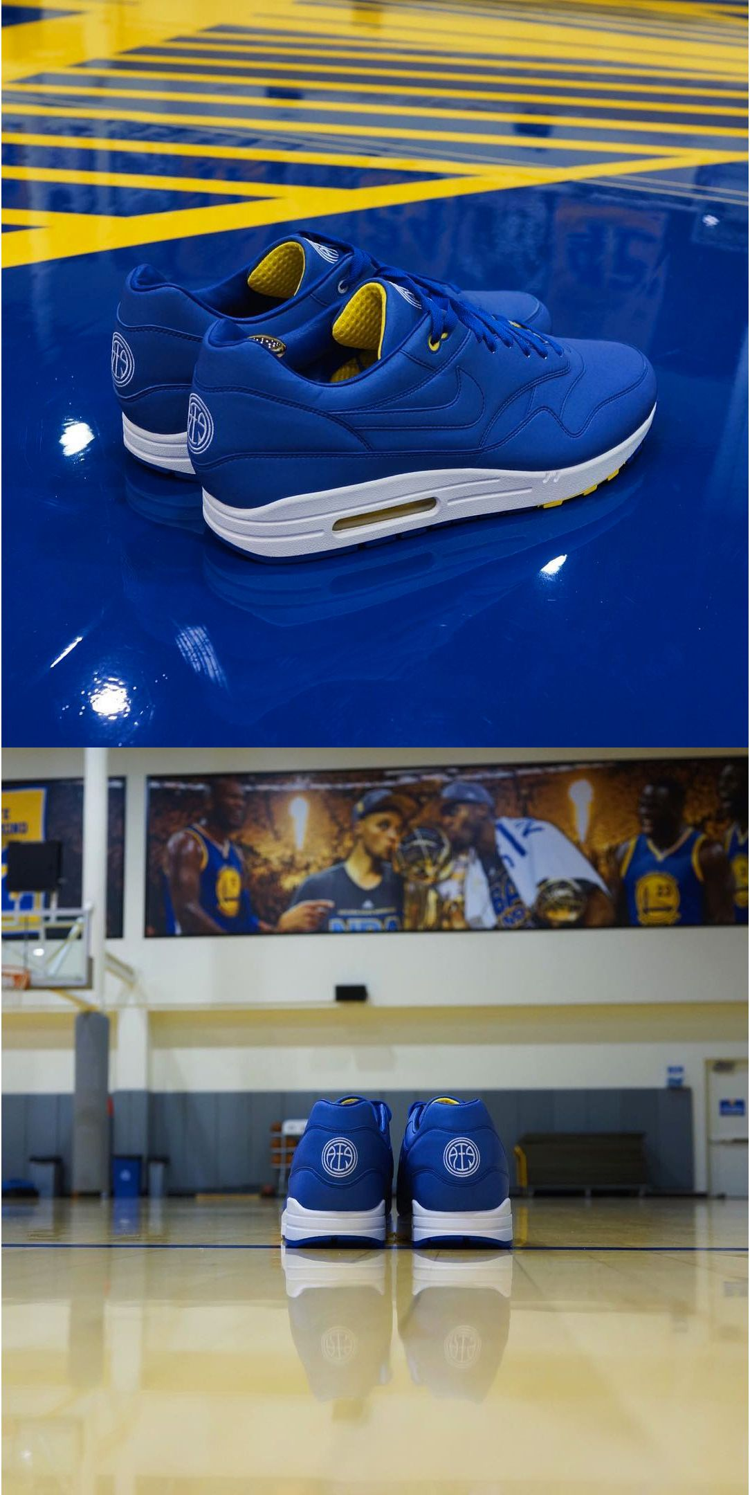 best website bbbb8 4d68a Andre Iguodola Designed a Golden State Warriors-Themed Nike Air Max 1 With 3M  Reflective