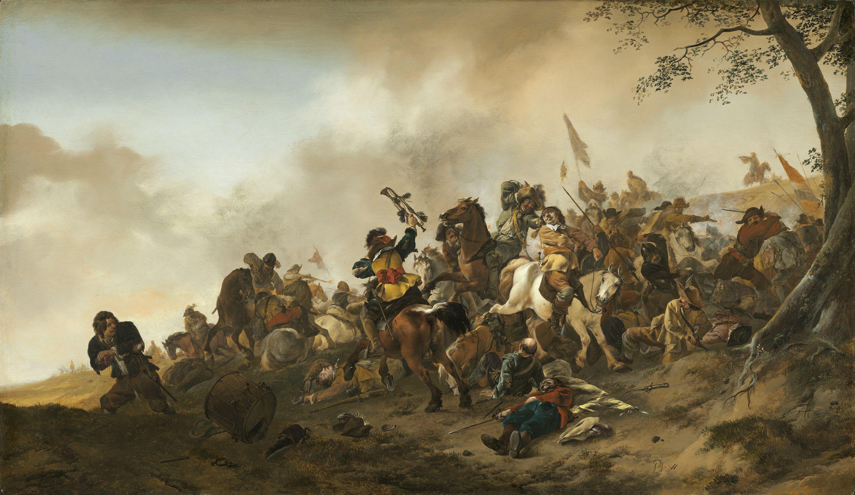 1850 Print ~ The Encampment ~ Philip Wouvermann Art