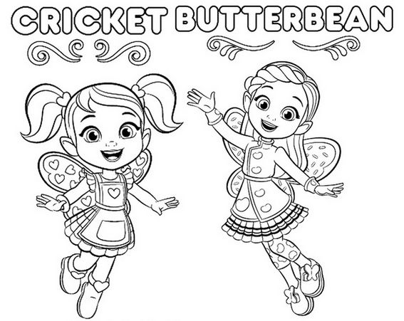 Cricket and Butterbean Coloring Page | Pendidikan