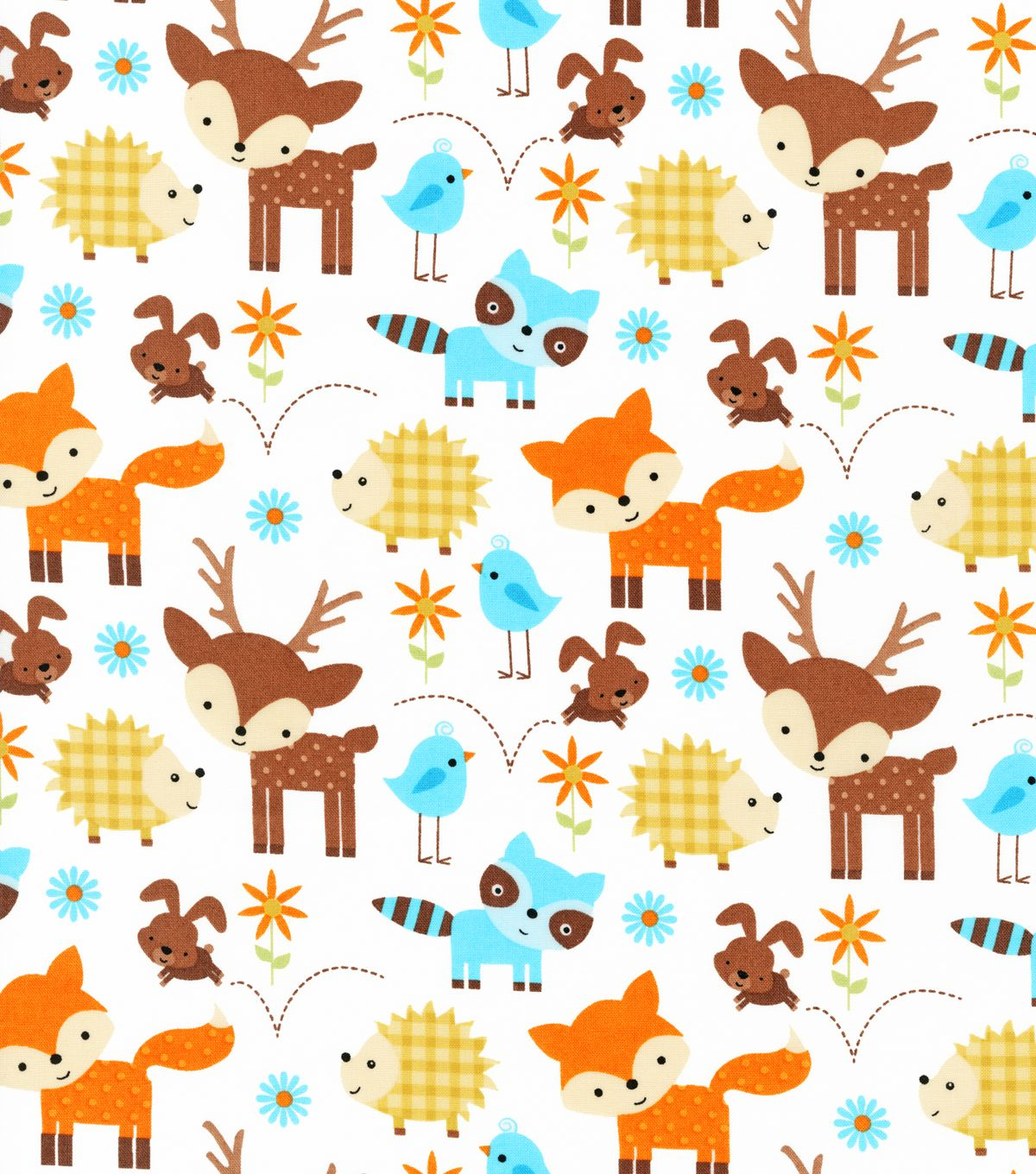 Nursery fabric woodland animals hi res baby 2 room for Cute baby fabric prints