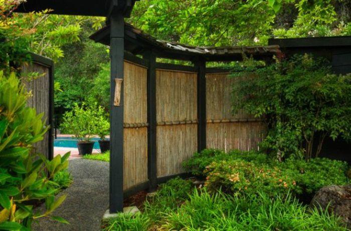 garten sichtschutz aus bambus Sichtschutz Pinterest Japanese - bambus garten design