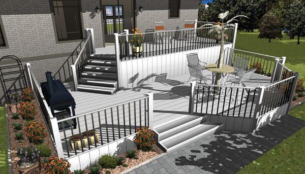 multi-level deck idea   Modern deck, Stairs design, Stairs