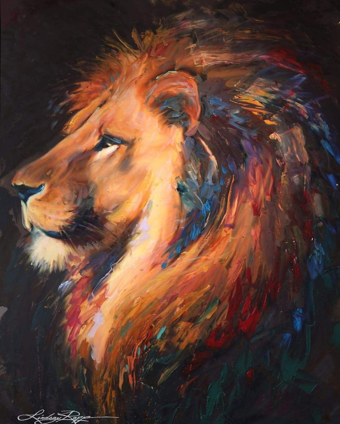 Pin by Julo on painting   Lion art, Lion painting, Painting