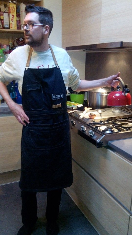 Personalised apron as x-mas gift. Hope he likes it...