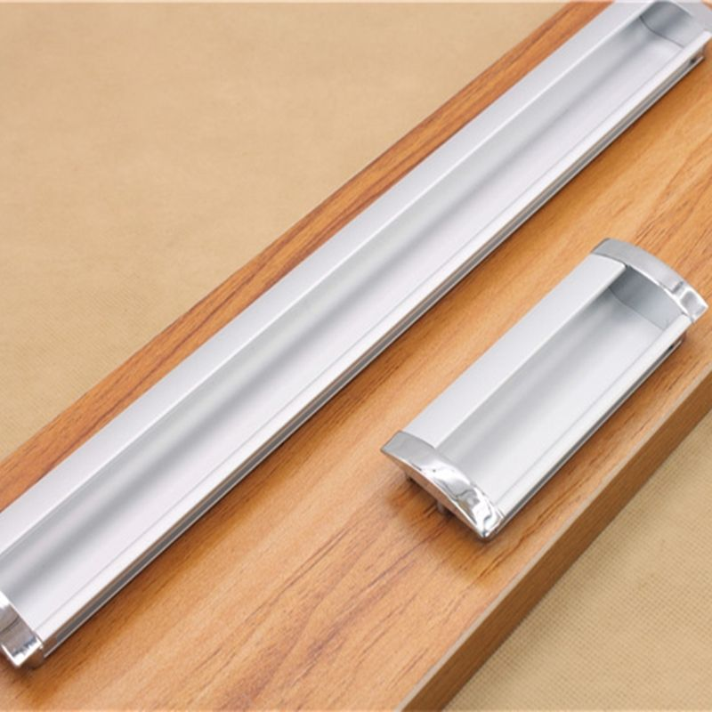 Superbe Simplicity Modern Long Aluminum Alloy Concealed Handle Hidden Drawer  Cabinet Door Handles Tatami Used Invisible Handle