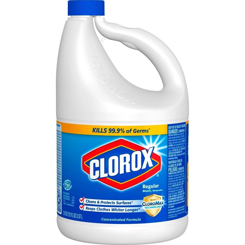 Clorox Disinfecting Bleach Regular 121oz Clorox Bleach