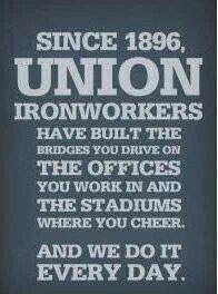 Union IronWorkers | Ironworkers | Iron work, Metal working