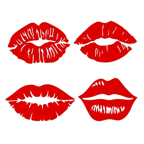 Kiss Lips Svg Cuttable Design Lip Stencil Valentines Svg