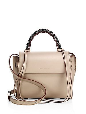 Elena Ghisellini Angel Sensua Leather Satchel