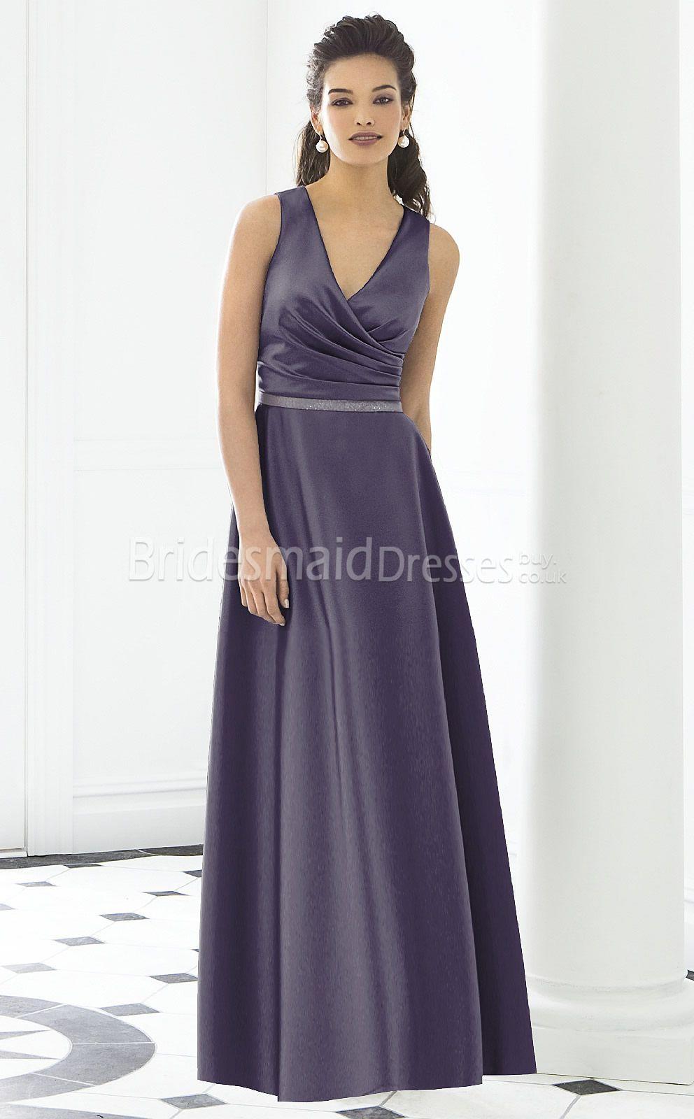 Lavender satin princess v neck floor length with criss cross lavender satin princess v neck floor length with criss cross bridesmaid dressesukbd03 ombrellifo Images