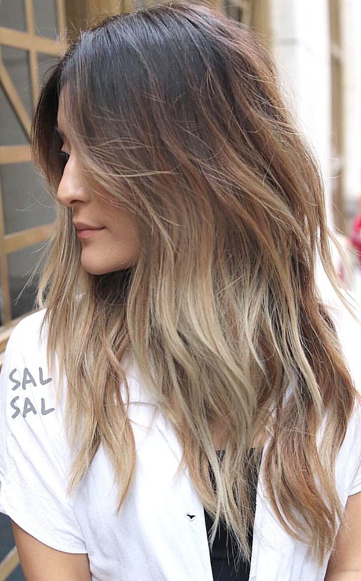 Pinterest deborahpraha layered hair cut with loose waves hair