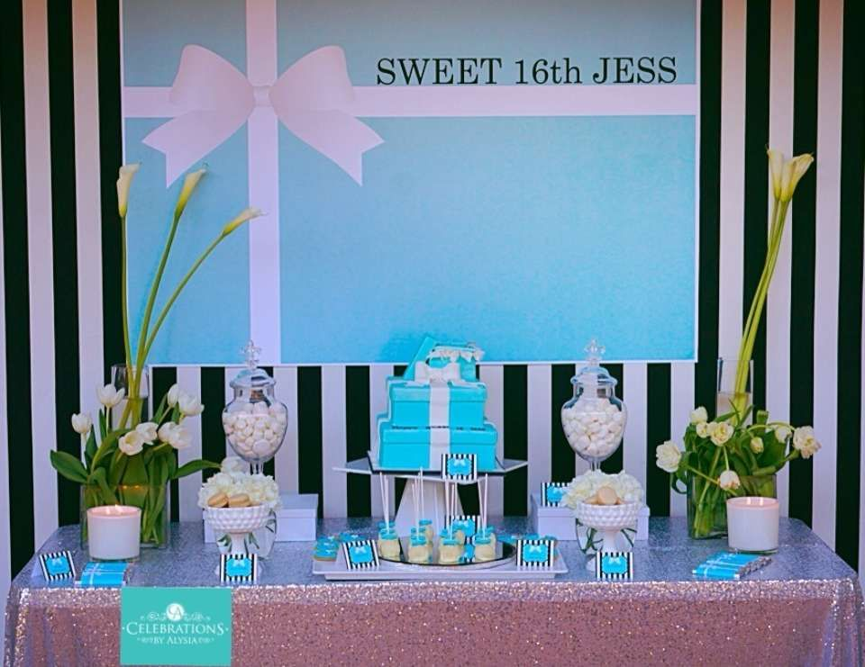 Sweet 16 birthday tiffany inspired 16th birthday 16 for 16th party decoration ideas