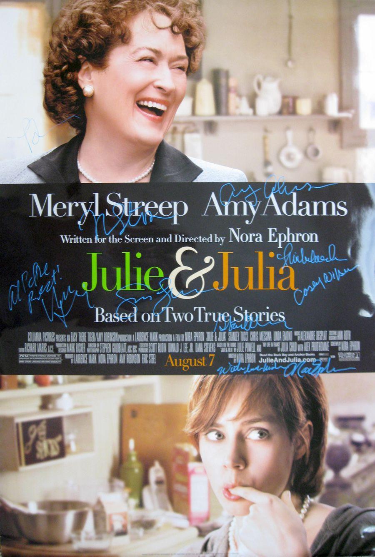 Julie Julia 2009 Original Movie Poster Cast Signed By Director