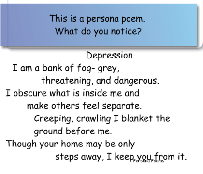 Persona Poetry Google Search Poetry And Poetic Devices