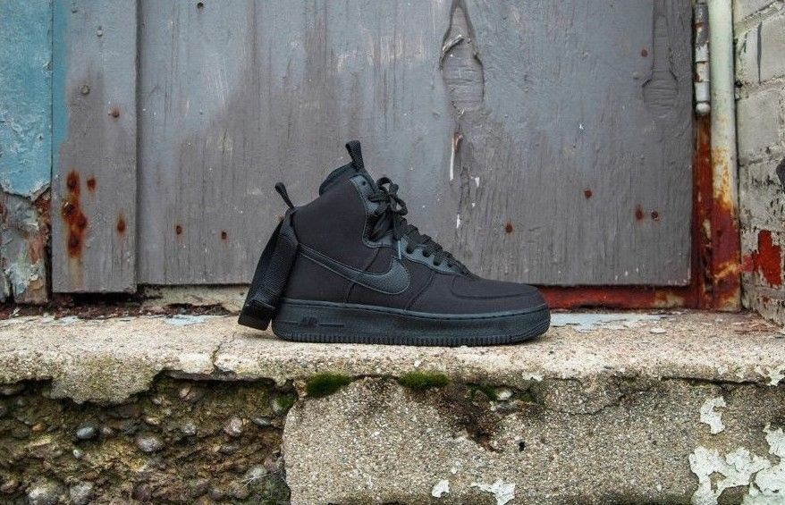 finest selection aca30 90718 NIKE AIR FORCE 1 HIGH CANVAS   BLACK   ANTHRACITE   AH6768-001 DS RARE  TRAINERS  Nike  Lifestyle