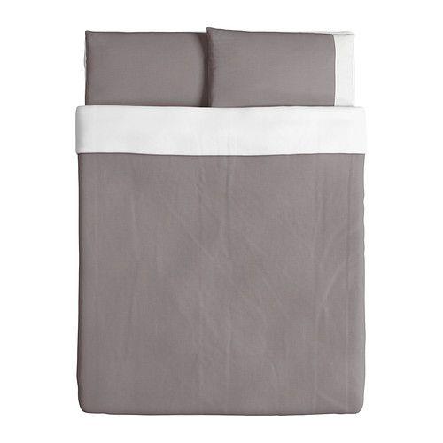 f rglav housse de couette et taie s deux places grand deux places ikea couvre lit. Black Bedroom Furniture Sets. Home Design Ideas