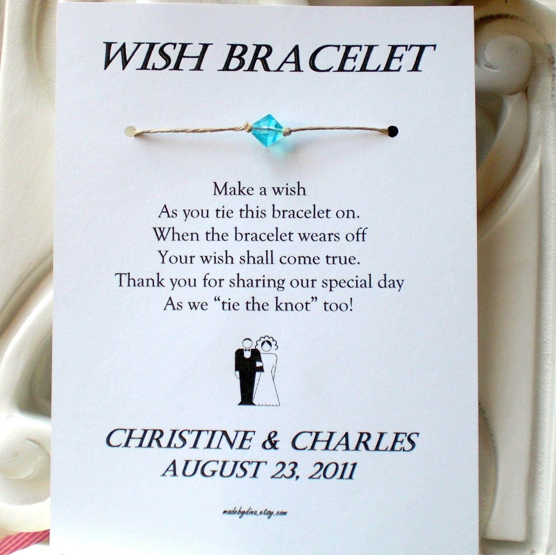 Classic bride and groom a wedding wish wish bracelet wedding