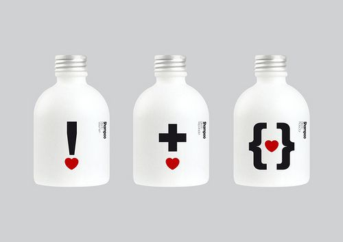 """Cool red, black and white shampoo #bottles PD"""