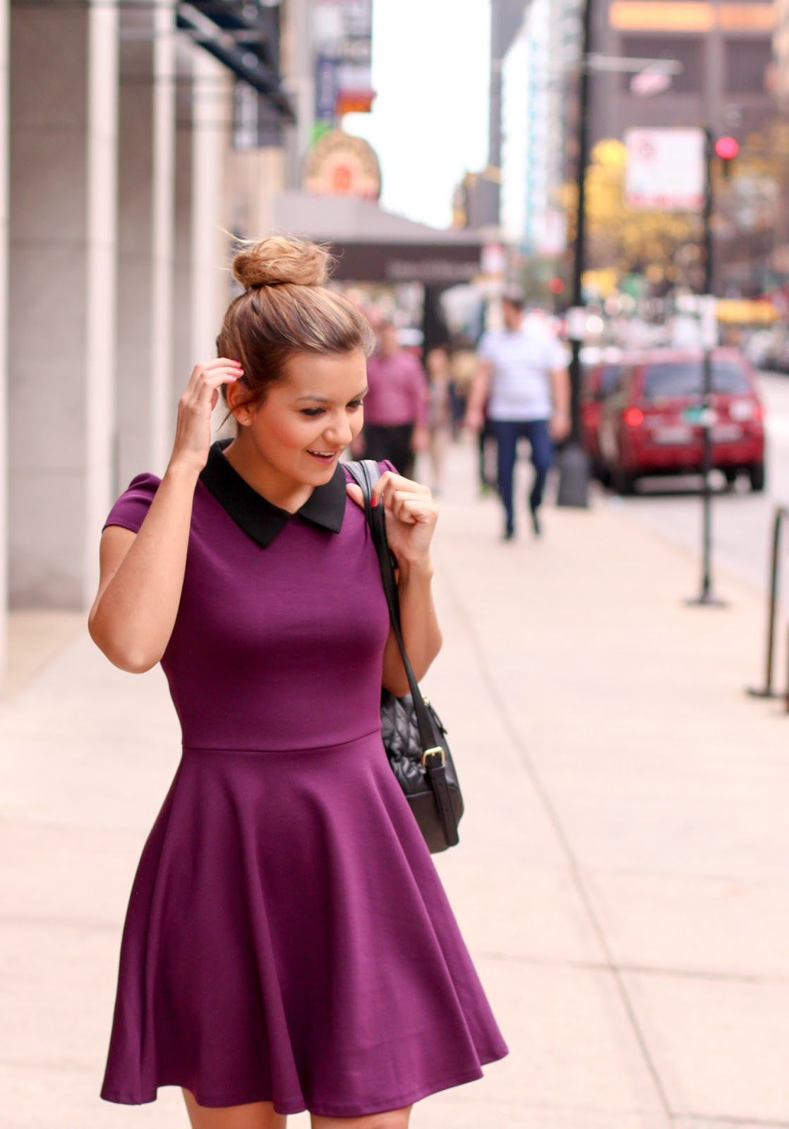 An easy a-line collared dress   Under $100