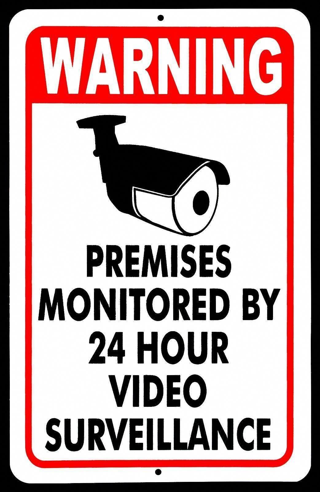 Warning Video Surveillance Sign Video Monitor Sign under
