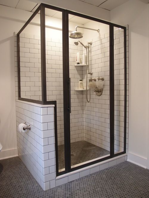 Bon Custom Blackened Stainless Steel Shower Enclosure