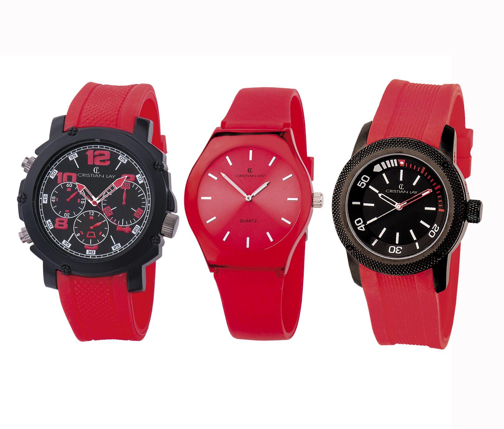 #Relojes sport para el día a día. Comodidad y #diseño. #Rojo #Red