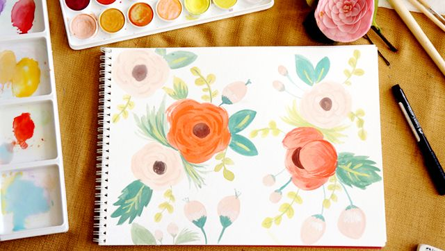 Harvesting Love Events: Watercolor Stationary: Rifle Paper Co Inspired