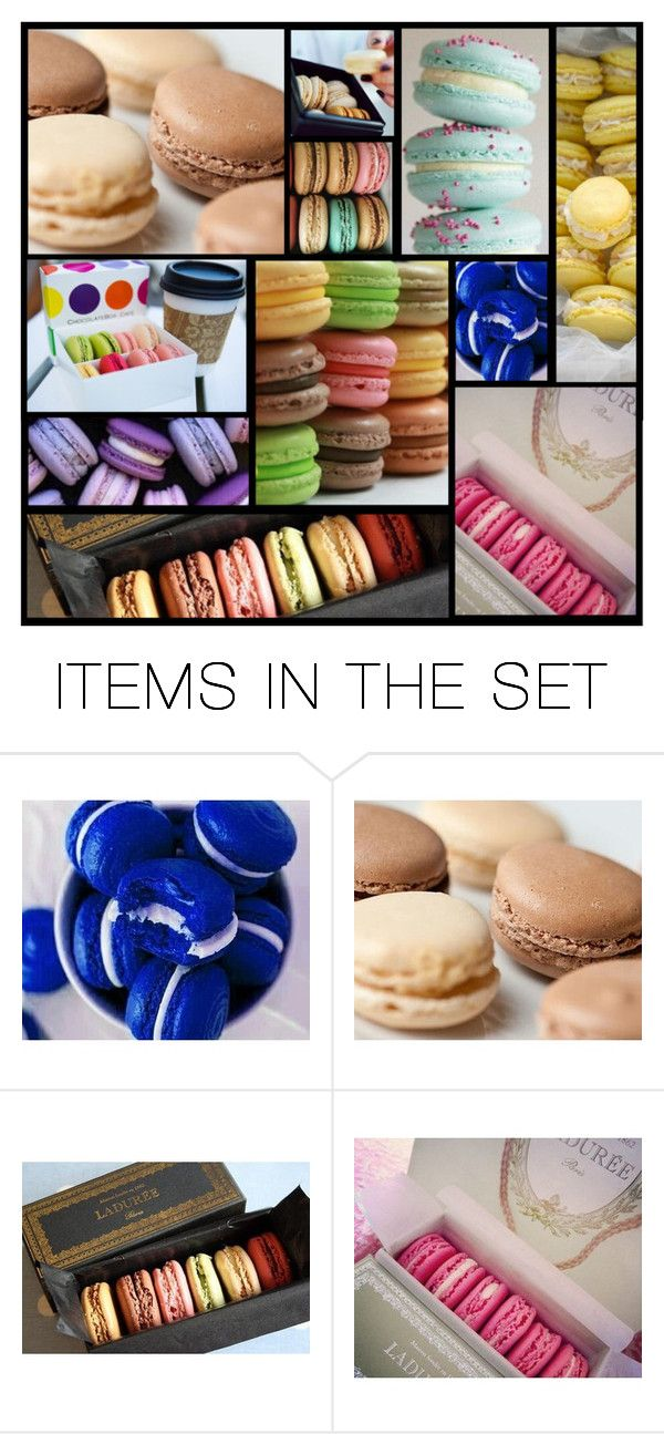 """""""macarons....do you ever eat?"""" by heartandsoul ❤ liked on Polyvore featuring art"""