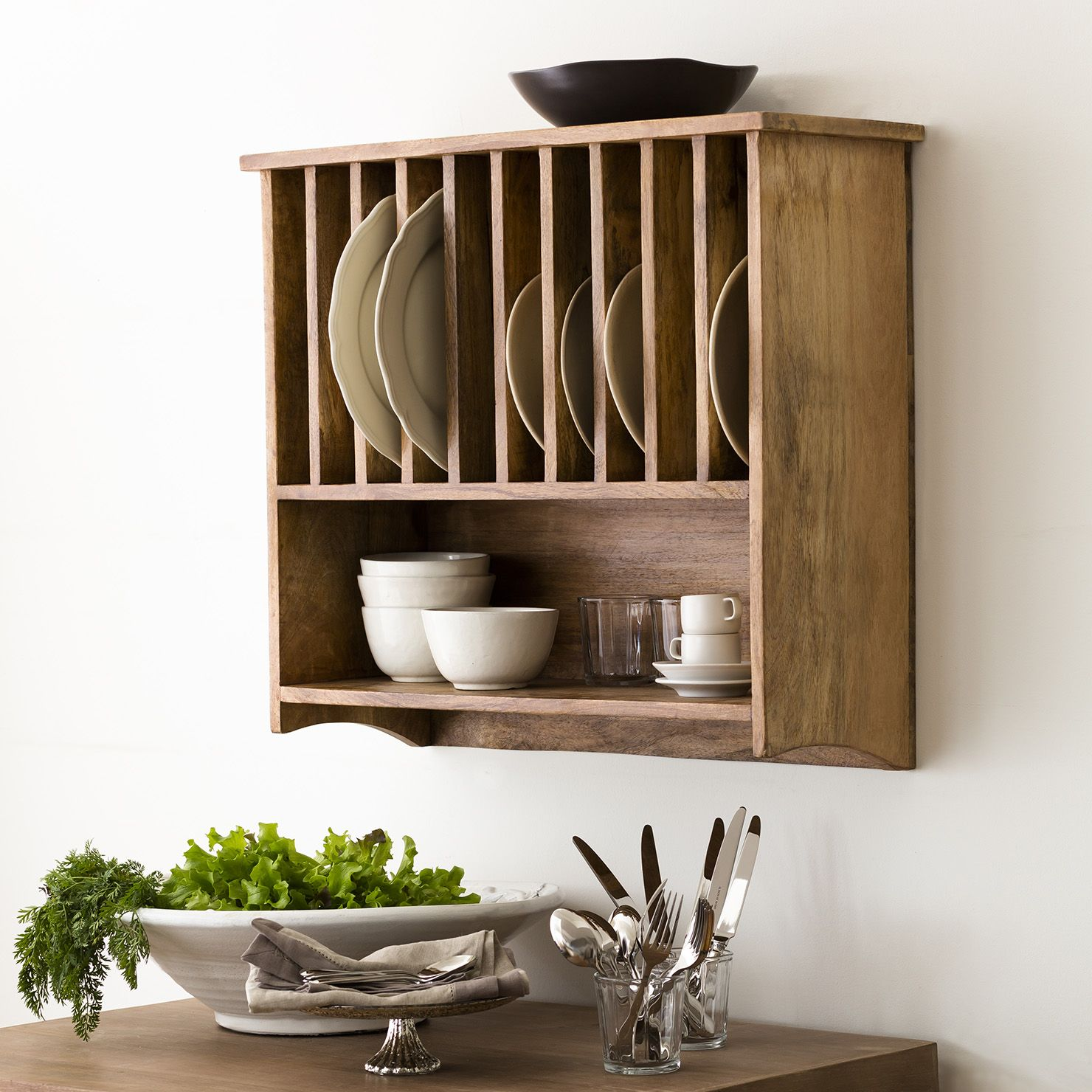 Wall Mounted Plate Rack | ACHICA | Shopping list | Plate