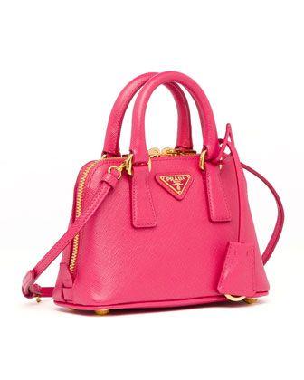 Prada Mini Saffiano Promenade Bag Pink