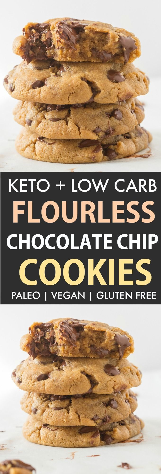 These are the BEST Keto Chocolate Chip Cookies- Soft, chewy, FLOURLESS and made ... -