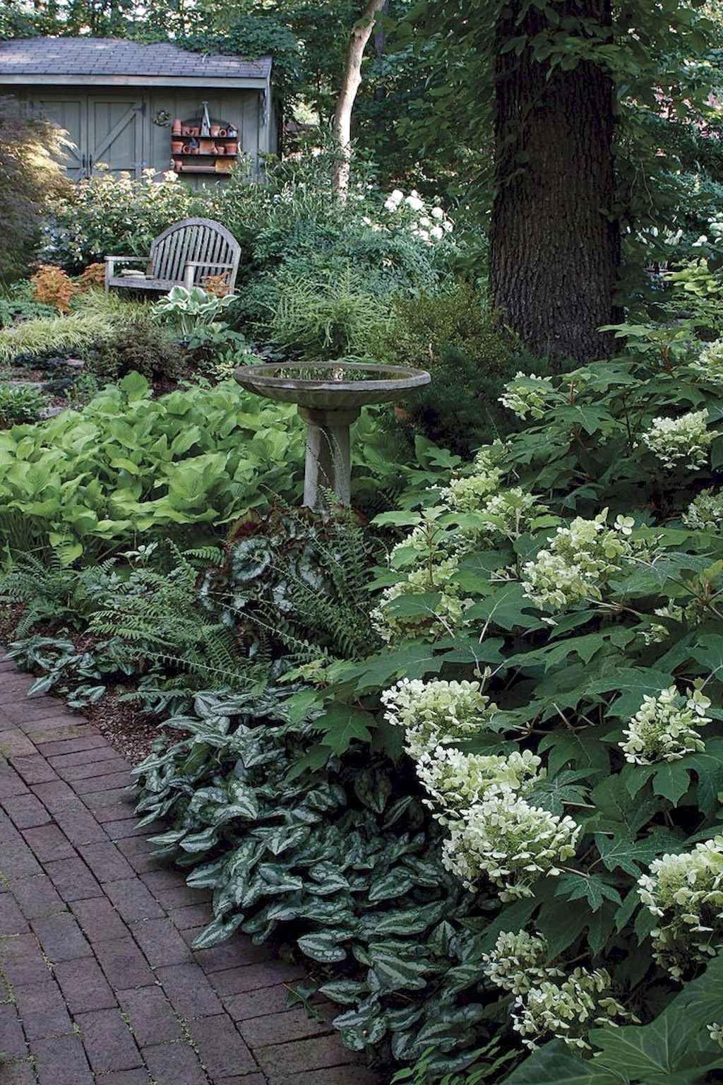 Favorite Side House Garden Landscaping Decoration Ideas With Rocks Exp Decor Shade Garden Design Cottage Garden Backyard Landscaping Backyard shade house ideas