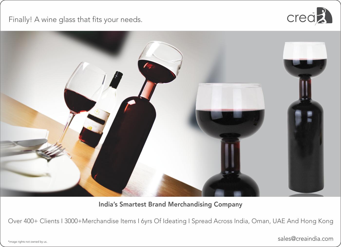 Wine Bottle cum Glass from Crea. India's smartest brand ...