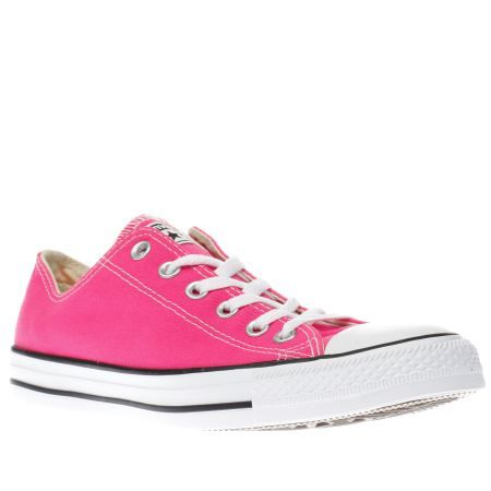 womens converse pink chuck taylor all star pow ox trainers