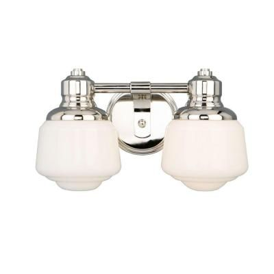 Bathroom Sconces With Bling hampton bay whitford 2-light polished nickel sconce-hjd1392a - the