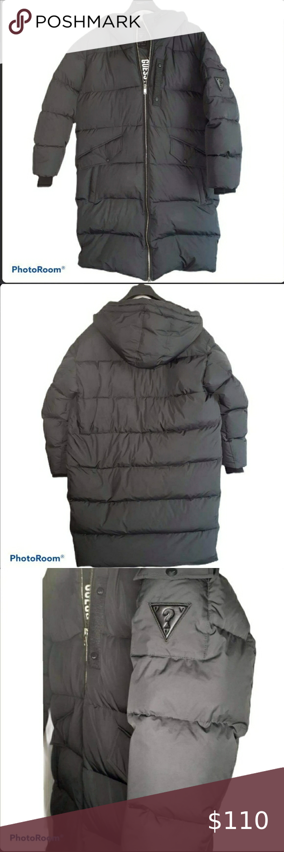 Guess Black Long Puffer Jacket Guess Black Long Puffer Jacket Size L Made In Vietnam Unisex Smoke Free Home And Pets Jackets Clothes Design Puffer Jackets [ 1740 x 580 Pixel ]