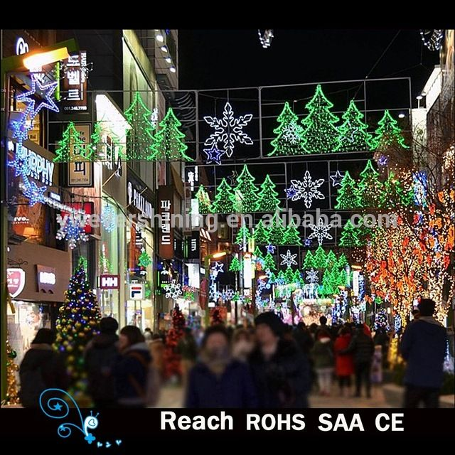 Source Christmas decoration LED Motif Lights led christmas tree /Snowflake outdoor Commercial Street decoration on m.alibaba.com