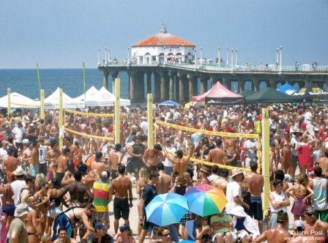 From Six Man To Six Pack Sixth Man Manhattan Beach Beach Sunset
