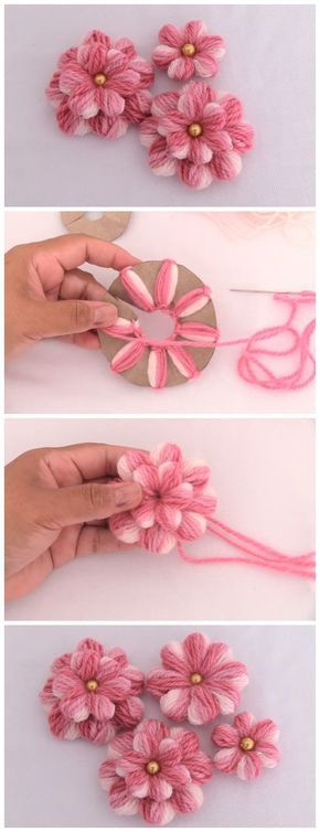Dies ist einer der besten Blumenstickerei-Tricks für jedermann! Der Embr - Love Amigurumi #flowerfabric