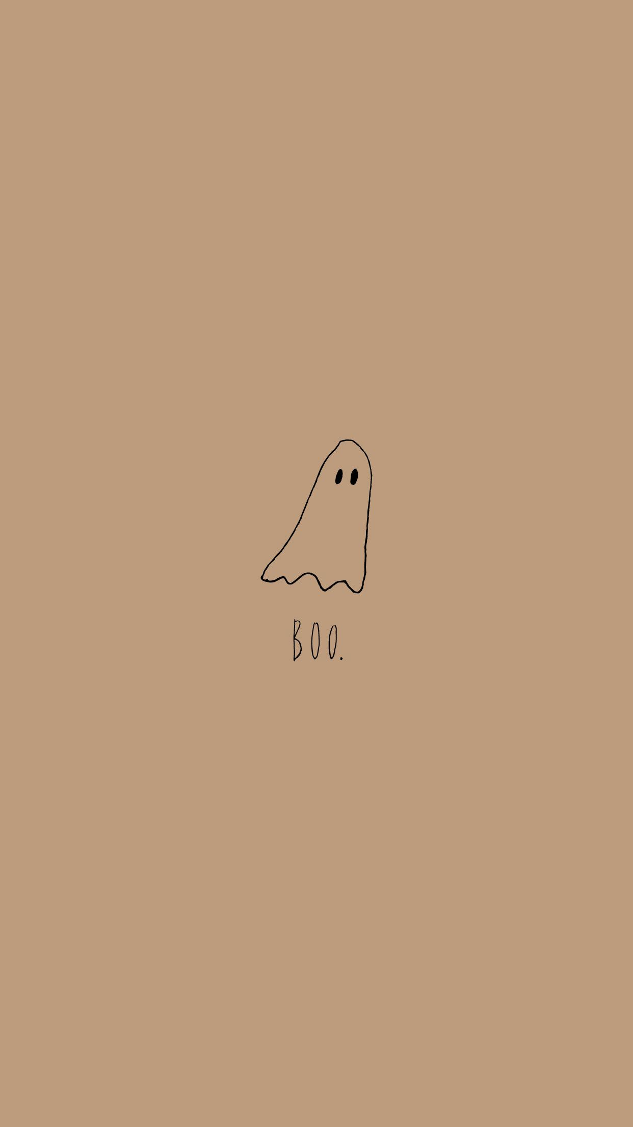Halloween Iphone Wallpaper Boo Ghost Halloween Wallpaper