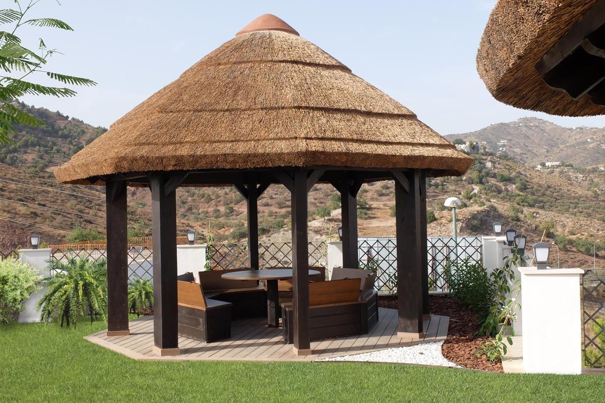 coberti jardn cenador de madera prgola techo cenador madera - Cenador De Jardin