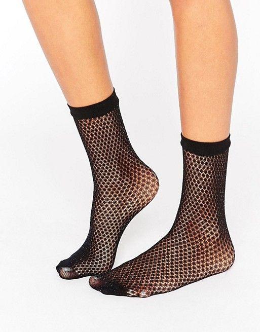 ASOS | ASOS Glitter Fishnet Ankle Socks